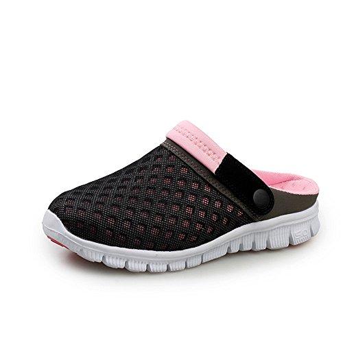 da Dimensione con con uomo Scarpe uomo EU Color tendenza aperta piatto Black tacco Sandali e Pink shoes da Jiuyue 39 Black donna Blue e da sandali all'aria spiaggia da 6SE0qqA