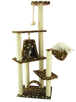 Armarkat Cat Tree Model A6601, Saddle Brwon W/White Paw Print ()