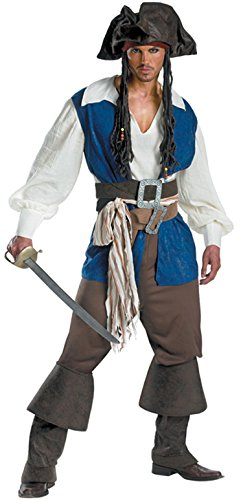Men halloween pirate costume war party dress 3003 (L) - Sexy Pirate Man