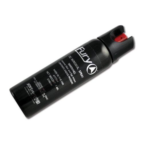 Fury OC 18% Aerosol Red Pepper Spray Twist-Top with Safety, 4-ounce, Stream