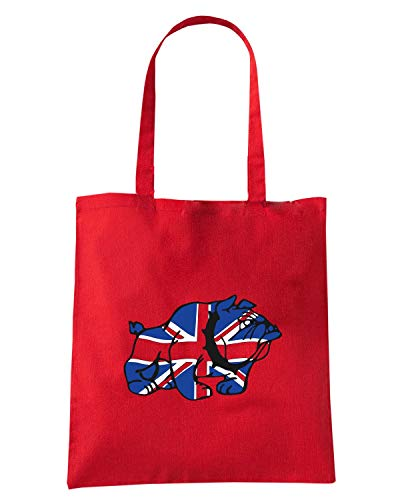 Borsa Shopper Rossa TSTEM0258 UNION JACK BRIT BULLDOG