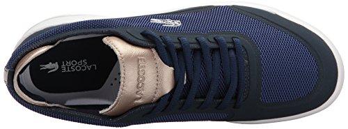Lacoste Womens Light Spirit Elite 117 2 Fashion Sneaker Blu Scuro