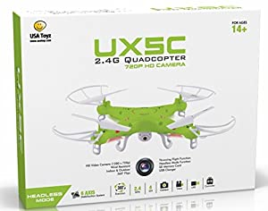 X5C RC Quadcopter Drone with Camera (720p HD) Headless Mode 2.4GHz 4 CH 6 Axis Gyro RTF Includes BONUS BATTERY (*Doubles Flying Time*) - USA TOYZ EXCLUSIVE!!