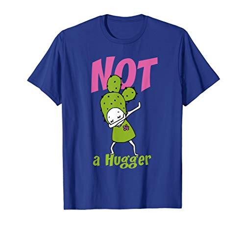 Gift Not a Hugger Dabbing cactus tshirt Woman Girl 5 colors