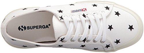 Superga Donna 2750 Embcotw Fashion Sneaker Bianco / Nero