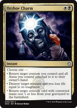 Amazon Com Magic The Gathering Orzhov Charm Ravnica Allegiance Guild Kits Toys Games The orzhov guild is founded on the beliefs that wealth is power, that structure breeds wealth, and that guilt creates structure. ravnica allegiance guild kits