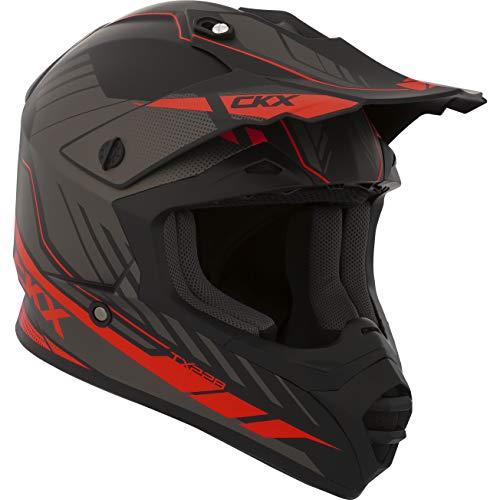 CKX Unisex-Adult Fuel TX228 Off-Road Helmet (Matte Red Small