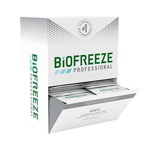Biofreeze Professional On-The-Go Pain Relief Gel, 100 Count Box of 3 mL Packets