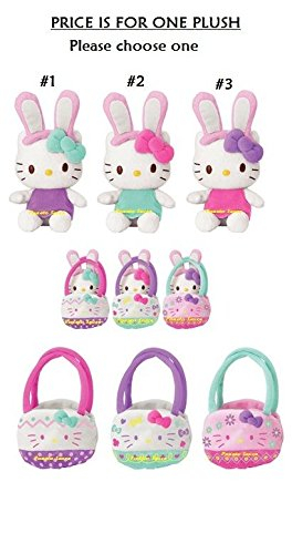 Hello-Kitty-Assorted-Bunny-Easter-Mascot-Plush-One-Chosen-Randomly