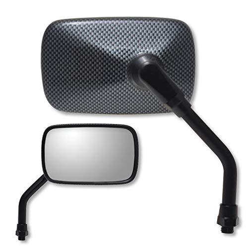Ken Sean Mini 5IN Rectangular Mirror Carbon Look for Yamaha