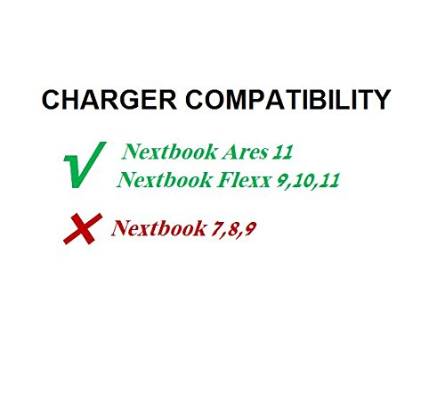 Extra Long 6.5 Ft 2A Wall Charger Power Adapter Cord for Nextbook Ares 11 Android, Flexx 11 Windows 11.6''; Flexx 10 10.1''; Flexx 9 8.9'' 2 in 1 Tablet Laptop PC by Eagleggo (Image #2)