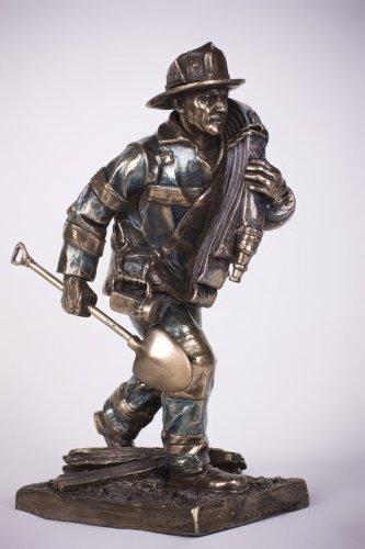 Fireman Responding Call Statue