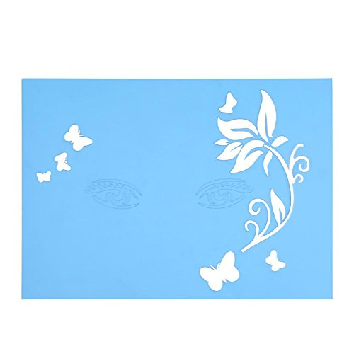 7 Styles Reusable Face Paint Stencil Body Painting Template Flower Butterfly Facial Design]()