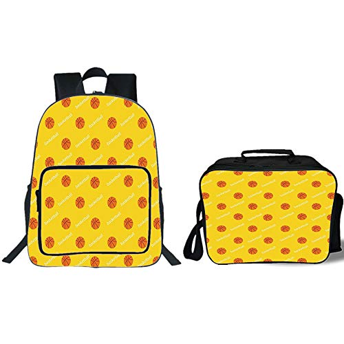 "iPrint 19"" School Backpack & Lunch Bag Bundle,Basketball,Ath"