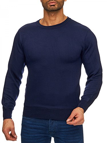 Homme Pull Arizonashopping Tricot H1727 Bleu o Fin Fit Sweat Col Pullover regular Rond shirt cou EqE5wxAZRC