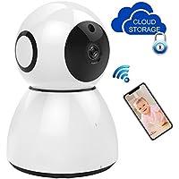 Wifi camera, 1080P IP Camera Home Monitoring CCTV Surveillance Network Webcam Pan/Tilt Video Surveillance 2 way Audio SD Card Slot 15 Days Cloud Storage