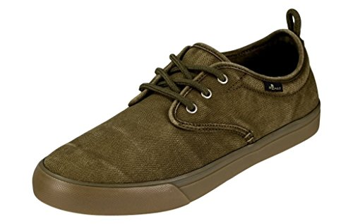 Sanuk Mens Guide Plus Washed Shoes Footwear, Washed Army Green, Size 8.5