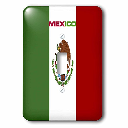 (3dRose LLC lsp_60634_1 Flag Of Mexico Single Toggle Switch )