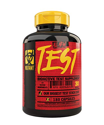 Mutant Test Natural Testosterone Booster with a Powerful Anabolic Formula Developed to Boost Testosterone Levels, Fast Pro-Caliber Formula, 180 Capsules