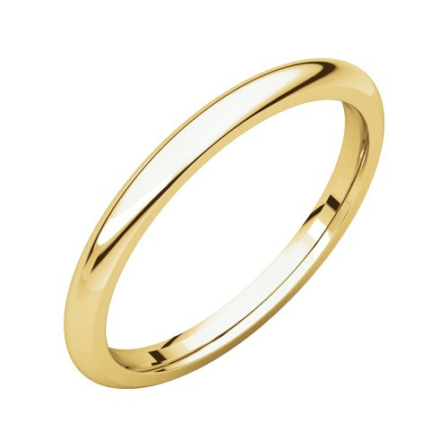 14k Yellow Gold 2mm Comfort Fit Band, 14kt Yellow gold, Ring Size 10 14kt Gold Comfort Fit Band