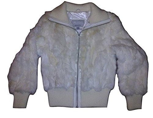 Wilsons Leather Maxima Small White Fur Coat Women's Jacket
