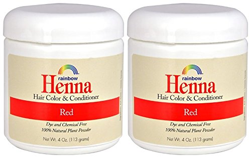Rainbow Research Henna Red Hair Color and Conditioner (Pack of 2) With Lawsonia Inhermis, 4 oz. each. by Rainbow Research