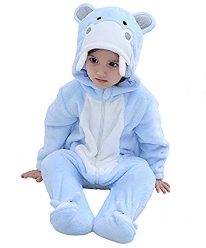 Toddler Halloween Costumes Hippo (Tonwhar Baby Animal Cat Onesie Romper Halloween Costume (70 Ages 3-6 Months,)