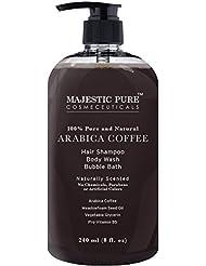 Majestic Pure Arabica Coffee Anti Hair Loss Shampoo & Body Wash, Restore Hair Growth, Promotes Manageable Hair Regrowth, 8 Fl. Oz.