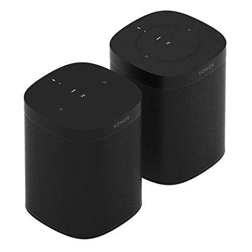 Great Deal! Sonos One (Gen 2) Two Room Set Voice Controlled Smart Speaker with Amazon Alexa Built in...