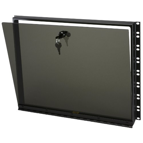 Hinged Plexiglass Security Cover for Rackmounts Height: 14'' H (8U space) by Middle Atlantic