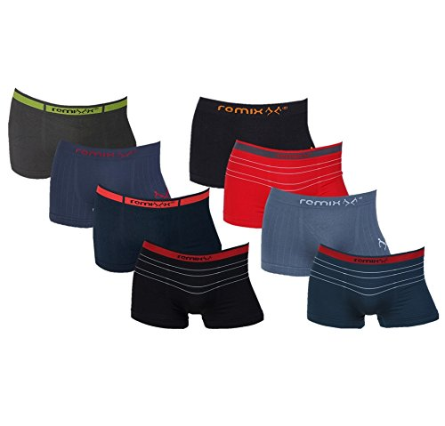 8er Pack Herren Boxershorts Microfaser Seamless Remixx