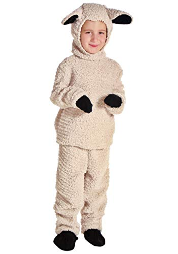 Big Boys' Sheep Costume Small Ivory