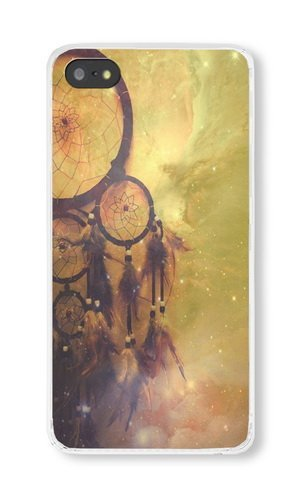 iPhone 5S Case, Transparent PC Hard Phone Cover Case For iPhone 5S With Dream Catcher Theme Phone Case