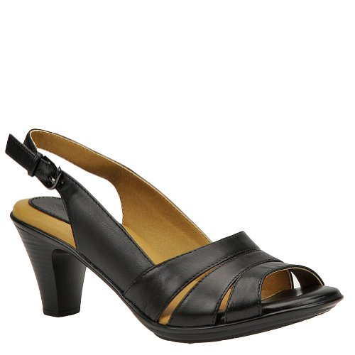 softspots Women's Neima-Soft Spots, Black Velvet Sheep Nappa, 9 M (B) (Peep Black Flats Toe Patent)