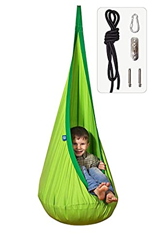 Amazeyou Kids Swing Hammock Pod Chair - Child's Rope Hanging Sensory Seat Nest for Indoor and Outdoor Use - Great for Children , All Accessories Included (Nook (Special Needs Exercise)