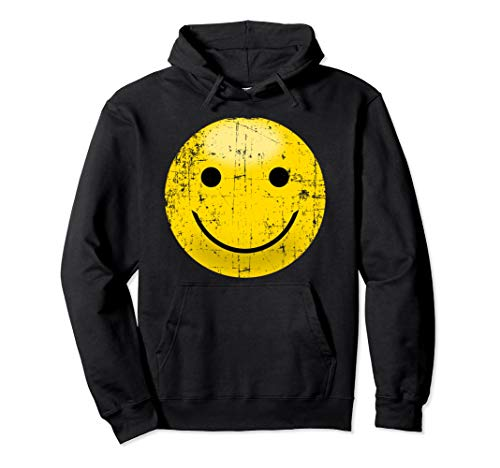Vintage Smiley Face Shirt - Smile Face Happy 80s Vibe Yellow Pullover - Yellow Smiley T-shirt