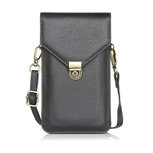 (Jubilee Value Products Cell Phone pu Leather Shoulder Bag with Strap )