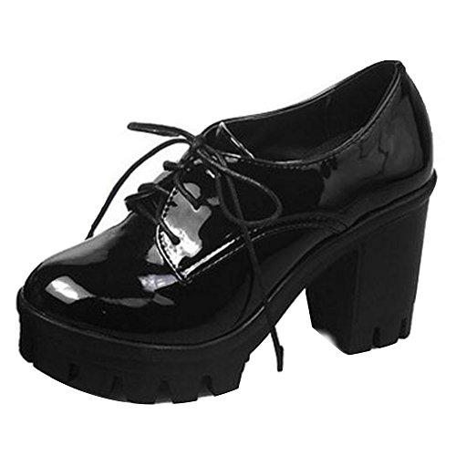 Women Heel KemeKiss Block Pumps Black wxA8pdqg