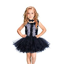 Handmade Sequins Sleeveless Bow Tie Ballet Dress