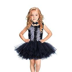 Handmade Sleeveless Sequins Ballet Dress
