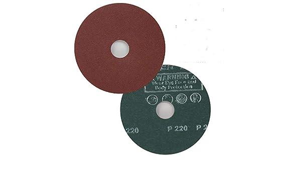 "Grit Hook and Loop Sanding Disc Sandpapper 10pc 7.0/"" 40 Grit 7//8/"" Arbor"