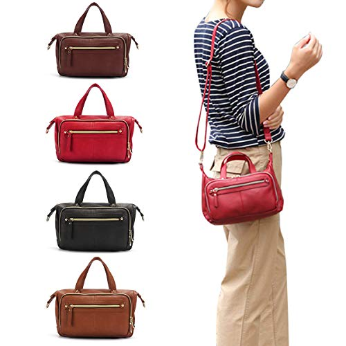 s Shoulder Bags Vintage Walles Motorcycle Bag For Women Coffee 9.45''x 3.15''x 6.30''(LxWxH) ()