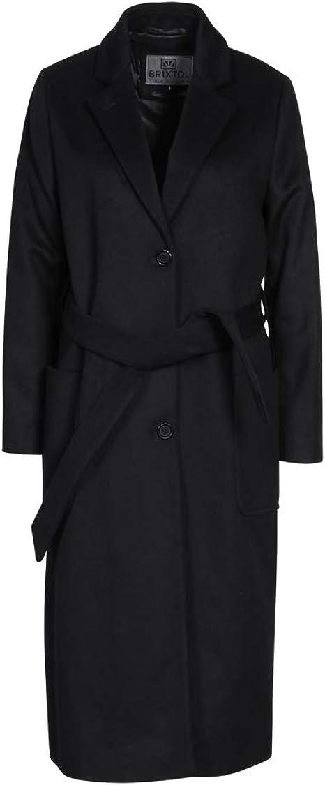 Brixtol Damen Mantel in Schwarz Black L: : Bekleidung
