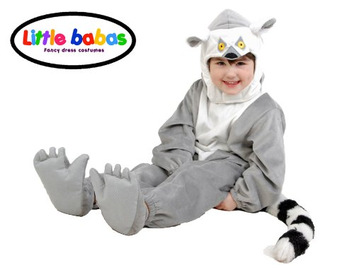 Little Babas Ring tailed Lemur Halloween Costume 3T 4T 5T 3-5 Years Multicolor, Bags Central