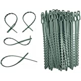 "skycabin 100 Pcs 17.5 cm (6.9"") Adjustable Plant Ties Flexible Plant Cable Ties Plastic Garden Ties for Plant Support Tree Shrut Vine"