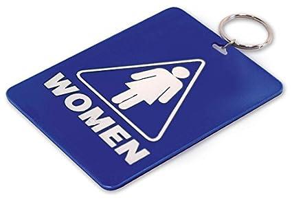 Lucky Line Restroom Key Tag Womens