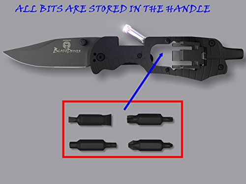 UPGRADED BladeDriver MultiTool Flashlight Screwdriver Knife Multi Tool
