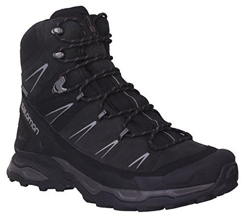 (Salomon Men's X Ultra Trek Gtx Backpacking Boot,Black/Black/Autobahn, 8.5 M)