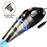 #5: Deenkee Car Vacuum, Handheld Vacuum for Car DC 12V, Stronger Suction, 5M Long Corded Portable Wet Dry Car Vacuum Cleaner High Power with Multiple Accessories