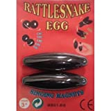 """6 Pairs - Large 2 1/2"""" Rattle Snake Egg Singing"""